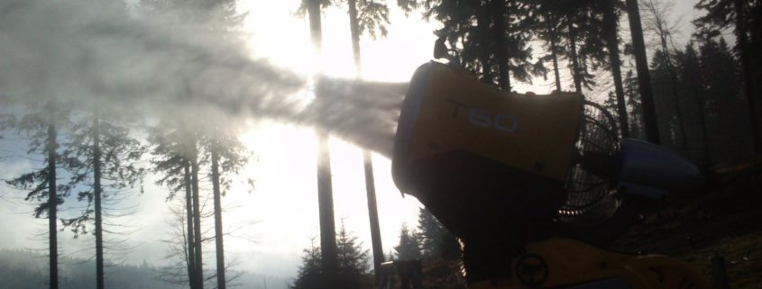 Test umělého zasněžování Šerlišský mlýn